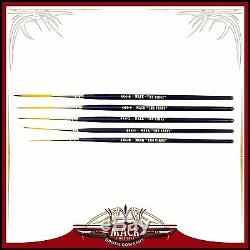 Set of 5 Size 0-6 Series 444 The Virus Scrolling Script Pinstriping Brush With