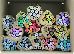 Set of Spectrum Noir Alcohol Markers 168 Total Markers Nearly all unused