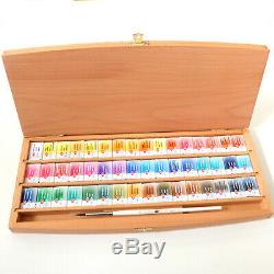 St Petersburg White Nights Artist Watercolour Set -48 Whole Pans in wooden box