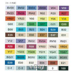 TOO Copic Ciao 72 color A Set Premium Artist Markers Anime Comic
