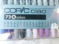 TOO Copic ciao Sketch Marker 72 color B Set Japanese Art Pens from Anime Manga
