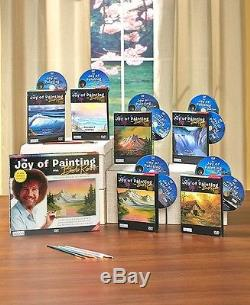 The Joy of Painting with Bob Ross 10 DVD Set BRAND NEW 20 lessons How to