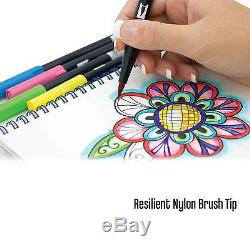 Tombow Dual Brush Pen Art Markers, 96 Color Set with Desk Stand