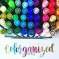 Tombow Dual Brush Pen Art Markers, 96 Color Set with Desk Stand 96 Color Set