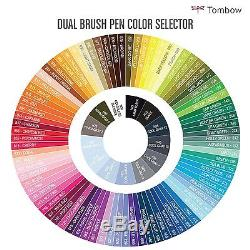Tombow Dual Brush Pen Art Markers96 Color Set with Desk Stand