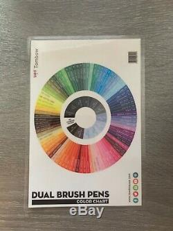 Tombow Professional Dual Brush Pen Marker Set 96 Colors with Desk Stand