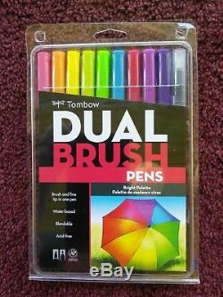 Tombow Professional Dual Brush Pens 9 Brand New Sets Free Priority Shipping