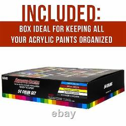 U. S. Art Supply 54 Color 1oz Ultimate Airbrush Acrylic Paint Set