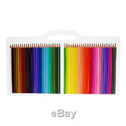 US Art Supply 50 Piece Hi-Quality Artist Colored Pencil Set Drawing Sketching
