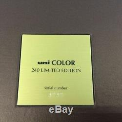 Uni COLOR 240 LIMITED EDITION Mitsubishi Color Pencil Only 5000sets USED +++
