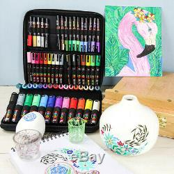 Uni Posca Marker Pens NEW EDITION 60 Pen Set CARRY WALLET INCLUDED