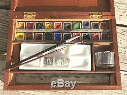 Vintage Reeves Students Colour Box Set No. 29 In Wooden Box Complete