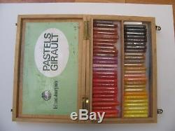 Vintage Soft Pastels 97 of 108 pc set. Girault in wood box
